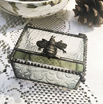 Bumble Bee Stained Glass Jewelry Box