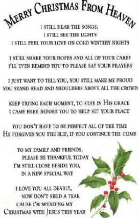 christmas in heaven quotes and poems quotesgram - Merry Christmas In Heaven