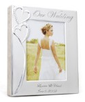 Personalized Crystal Studded Silver  Photo Wedding/Anniversary ALBUM