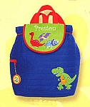 Personalized Quilted Dino Backpack