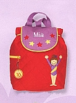 Personalized Quilted Gymnastics Backpack