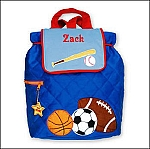Personalized Quilted Sports Backpack