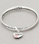 Friend's Inspirational Twist Bangle Bracelet