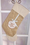 Quilted Sand Dollar Christmas Stocking