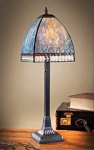 Drake Stained Glass Table Lamp Blue