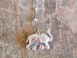 Elephant Silver Alloy Necklace
