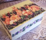 English Bunnies Wooden Keepsake Box