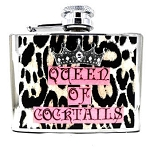 Queen of Coctails Personalized Flask