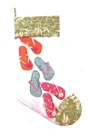 Flip Flops and Palm Print Quilted Christmas Stocking