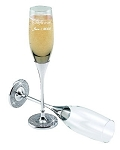 Personalized Wedding Glitter Galore Champagne Flutes