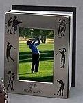 Personalized Brushed Silver Golf Photo Album