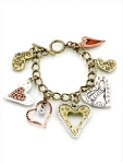 Personalized Inspirational Heart Charm Bracelet