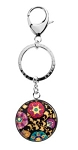 Personalized Vera Bradley Key Chain in Suzani