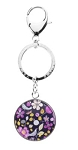 Personalized Vera Bradley Key Chain in Floral Nightingale