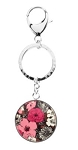 Personalized Vera Bradley Key Chain Mocha Rouge