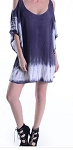 Gauzy Navy Beach Tunic