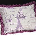 Lavender Scented French Stamped Linen Pillow