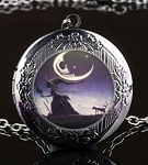 Personalized Gothic Witch Locket