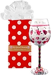 Personalized Love You Handpainted Wine Glass