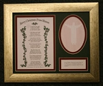 Merry Christmas from Heaven ®  Framed Remembrance Gold Tone Frame