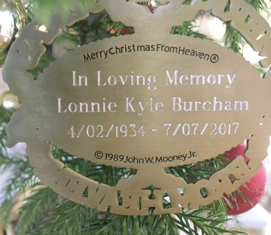 Christmas In Heaven.Personalized Merry Christmas From Heaven Ornament