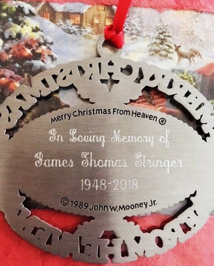 My First Christmas In Heaven.Personalized Merry Christmas From Heaven Ornament