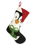 Penguin Hooked Christmas Stocking