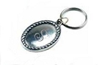 Personalized Pewter Oval Key Chain
