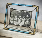 Stained Glass Picture Frame with Leaded Stafish and Seashell