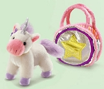 Pink Unicorn Fancy Schmancy Purse Pet Purse by Russ Berrie