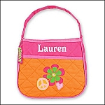 Personalized Quilted Toddler Girl Peace Purse
