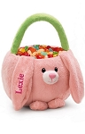 Personalized Pink Bunny Basket