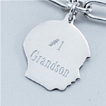 Monogrammed Sterling Silver Boy Charm