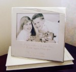 Dear Dad Personalized Silver Picture Frame