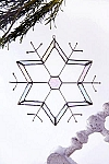Snowflake Stained Glass Suncatcher