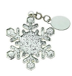 Personalized Glitter Galore Snowflake Ornament