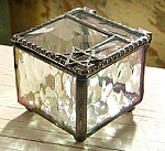 Star of David Miniature Stained Glass Box Collectible