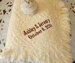 Personalized Wedding Afghan Throw