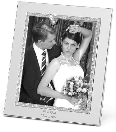 personalized glitter galore 8 x 10 silver wedding or anniversary frame - Engraved Picture Frame