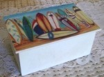Wooden Painted Surf Boards Box