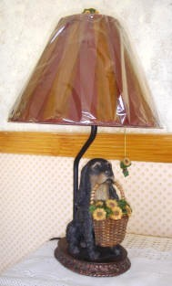 Spaniel Dog Figurine Table Lamp