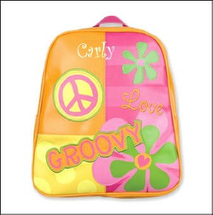 Personalized Groovy Peace Go-Go Backpack - New