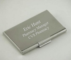 Personalized Pewter Finished Business Card Case