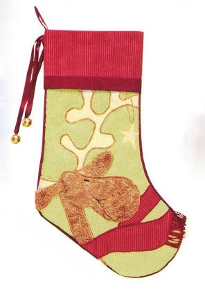 Reindeer Quilted Christmas Stocking