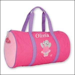 Personalized Quilted Dance Duffle Bag