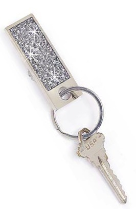 Personalized Glittor Galore Rectangle Key Chain