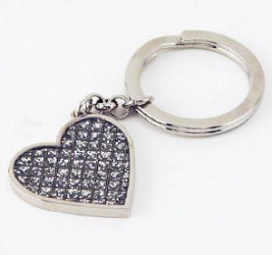 Personalized Glitter Gilore Heart Key Chain