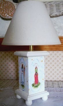 Nursery Rhyme Print Wooden Lamp