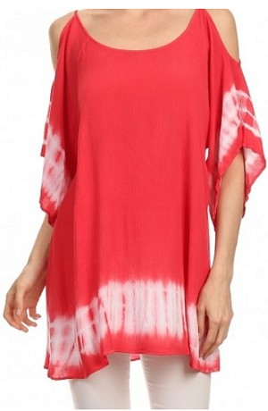 Gauzy Red Beach Tunic