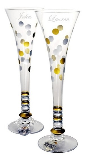 Personalized Wedding or Anniversary Champayne Flutes